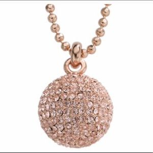 Michael Kors Pave ball rose gold necklace